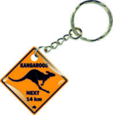 Keychain Key Ring Keyring Car Motorcycle Kangaroo Australia Road Sign Flag • 5.99£