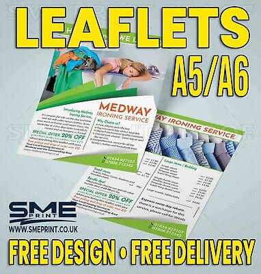 £79 • Buy Print Personalised A6 / A5 Leaflet / Flyers With Free Artwork Design Service