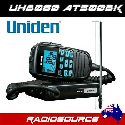AU355 • Buy UNIDEN UH8060S UHF CB 80CH RADIO & Uniden AT500BK Black Fibreglass Antenna