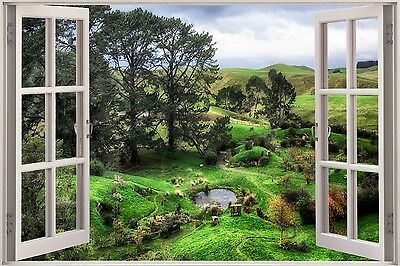3D Effect Window View Countryside Nature Sticker Wall Poster Vinyl GA1-103 • 13.99£