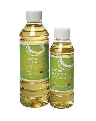 Quality Artists Refined Linseed Oil - 250ml Or 500ml Bottles • 12.99£