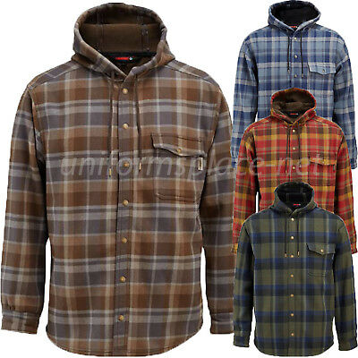 Wolverine Flannel Jacket Mens BUCKSAW BONDED Shirt Hooded Lined Jacket W1203770 • 30.88£