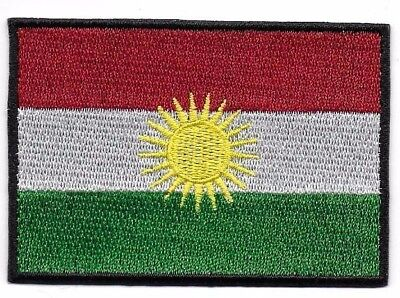 Embroidered KURDISTAN Flag Iron On Sew On Patch Badge HIGH QUALITY  • 2.49£