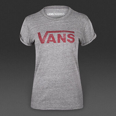 Womens Vans Authentic T Shirt Rock Grey Size X-Small New £14.99 • 14.99£