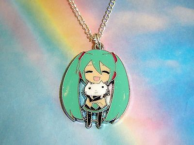 Hatsune Miku Vocaloid Pendant Necklace Japanese Anime In Gift Bag Uk Seller • 2.99£