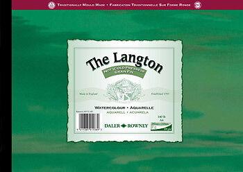 Daler Rowney Langton Watercolour Paper Pad 300g A4 Landscape Not • 14.49£
