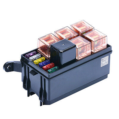 $ CDN50.73 • Buy 6 Way Auto Fuse Box Assembly With 40A + 5Pin 40A Relay And Fuses