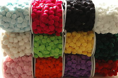 LARGE Pompom 15mm Ribbon Trim Trimming Bobble Braid Fringe Christmas Pom Pom • 1.75£