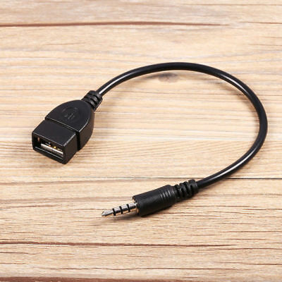 3.5mm Male Audio AUX Jack To USB 2.0 Type A Female OTG Converter Adapter Cable   • 3.50£