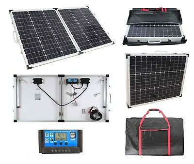 £137.99 • Buy 100W Portable Mono Folding Solar Panel Kit 12v Battery Charger Camping Caravans