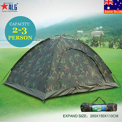 AU30.35 • Buy 2-3 Person Camping Tent Waterproof Portable Outdoor Hiking Sun Shade Shelter