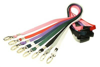 £0.99 • Buy Lanyard Neck Strap Strong Metal Clip For ID Card Pass Holder PICK YOUR COLOUR!!