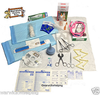Warwick Whelping Boxes™ Select Kit Sterile Delivery Pack Aspirator Stethoscope • 25.99£