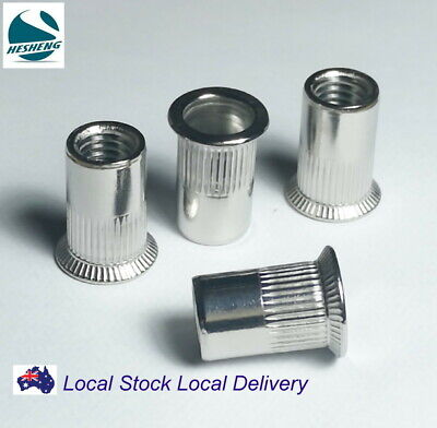 AU13.50 • Buy Qty 10 M6 Countersunk Stainless Steel Rivet Nut Rivnut Long Grip 6.5mm Nutsert