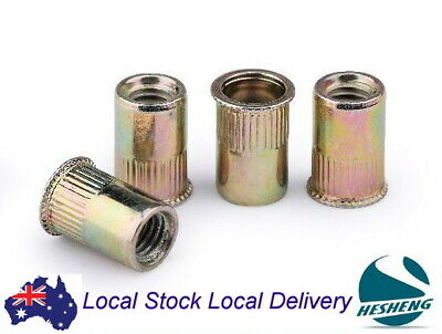 AU17.99 • Buy Qty 100 M3 M4 M5 M6 M8 Nutsert Zinc Plated Steel Countersunk Rivet Nut Rivnuts