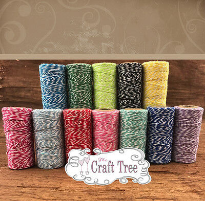 £1.65 • Buy Bakers Twine 10 Metres Wedding Party Crafts String Ribbon 100% Cotton 12 Colours
