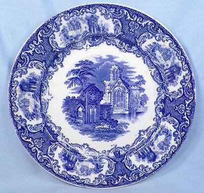 $64.99 • Buy Petrus Regout Abbey Luncheon Plate Blue Transferware Maastricht Holland