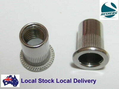 AU10.50 • Buy Qty 20 M6 Large Flange Nutserts 304 Stainless Steel Rivet Nut Rivnut Nutsert
