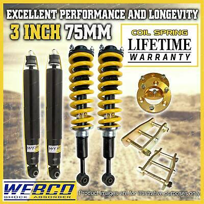 AU830 • Buy 3 Inch 75mm Pre Assembly Easy Lift Kit King For Toyota Hilux Vigo KUN26 GGN25