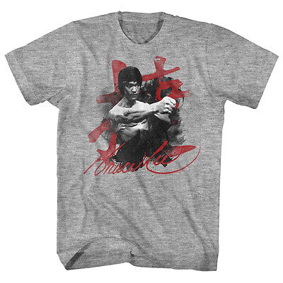 $34.99 • Buy Bruce Lee Mens New T-Shirt Sizes SM - 5XL WHA-TAAA In Gray Heather Martial Art