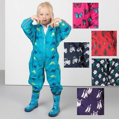 Childrens Splash Suit All In One Piece Waterproof Rydale Kids Rainwear • 28.99£