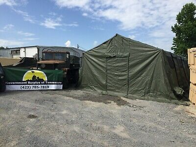$1395 • Buy  Military Base X 305 Tent  18' X 25' W/Stakes OD GREEN   Tactical Shelter