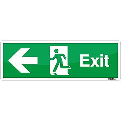 Emergency Fire Exit Route LEFT Sign Self-adesive Sticker By Stika.co • 3.25£