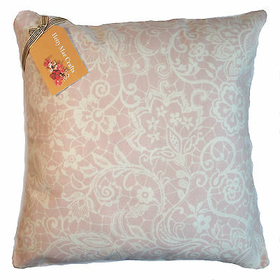 Cushion Cover Made From Clarke And Clarke Lace Pink Fabric • 10.75£