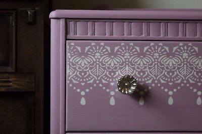 Lace STENCIL Border Painting Wall Furniture Cards Wedding Cake Reusable Art LA38 • 8.49£
