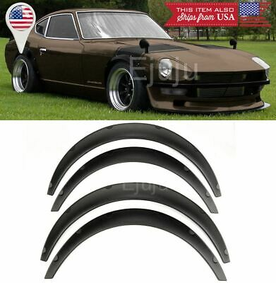 $46.92 • Buy 1.75  Front 2.75  Rear ABS Flexible 4 Pieces  Wide Fender Flares For Mitsubishi