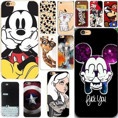 AU3.99 • Buy Mouse Girl Silicone Rubber Soft TPU Case Cover For IPhone 6 6S 7 8 Plus 5S SE