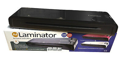 A4 Heated Electric Laminator High Quality Cathedral Machine Roller A5 - Black • 19.99£