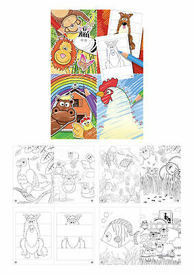 £1.79 • Buy 6 Mini Colouring Books - A6 - Loot/Party Bag Fillers Wedding/Kids Activity