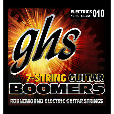 AU9.54 • Buy GHS Strings GB7M Boomers 7-String Medium Heavy Guitar Strings (10-60)