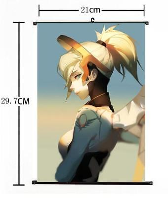AU9 • Buy Hot Japan Anime Overwatch Mercy Art Home Decor Poster Wall Scroll 8 X12  07