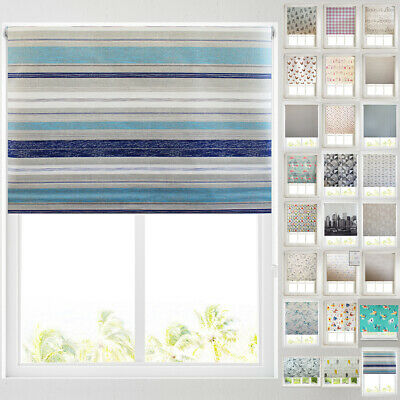 Patterned Thermal Blackout Roller Blinds -22+ Designs - FREE CUT TO SIZE SERVICE • 40.99£