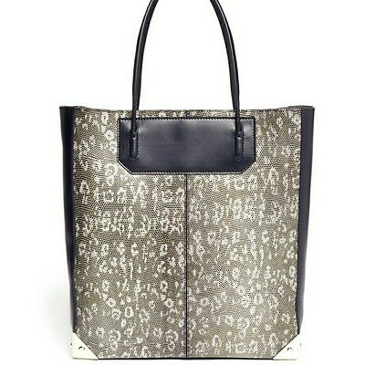AU394.16 • Buy NEW Alexander Wang Prisma Tote Embossed Lizard. Brown And Cream Bag Purse NWT