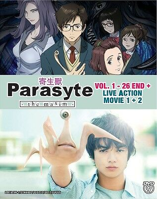 £19.40 • Buy DVD Anime Parasyte The Maxim Complete Series (1-26) + Live Action Movie 1+2 NEW