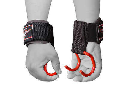 £7.99 • Buy BOOM Weight Lifting Training Gym Hook Grips Straps Gloves Wrist Support Lift