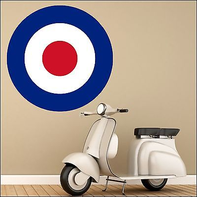 £16.49 • Buy Large Mod Mods Scooter Red White Blue Target Wall Art Sticker 6 Size XL-1.2m