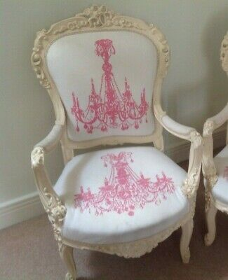 £180 • Buy Antique French Fauteuil Chair Salon Lounge Louis XV Style Rococo Andrew Martin
