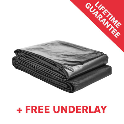 Pond Liner Deluxe For Garden Fish Ponds With Lifetime Guarantee & Free Underlay! • 22£