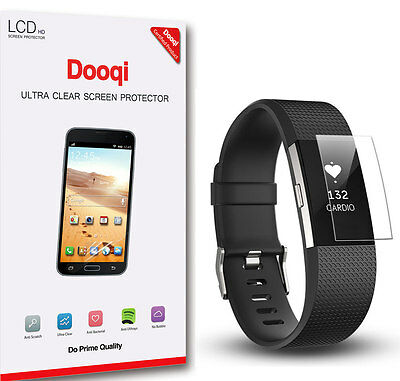 $ CDN7.98 • Buy 6X Dooqi HD Clear [Full Coverage] LCD Screen Protector For Fitbit Charge 2