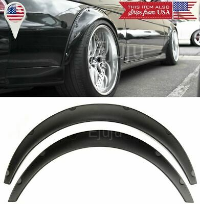 $35.87 • Buy 2 Pcs 2.75  Wide ABS Black Flexible Fender Flares Extension For  Honda  Acura