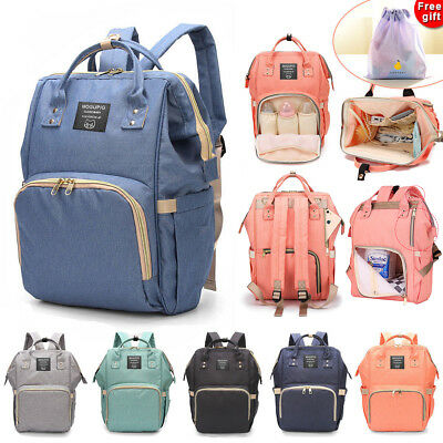 AU28.99 • Buy Luxury Multifunctional Baby Diaper Nappy Backpack Waterproof Mummy Changing Bag