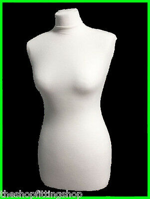£10.99 • Buy REPLACEMENT WHITE COVER Female Tailors Dummy Dressmakers Mannequin Size 8,10,12