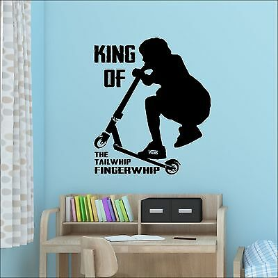 £11.49 • Buy Large Teenage Bedroom Stunt Trick Scooter Wall Sticker Art Fingerwhip Tailwhip