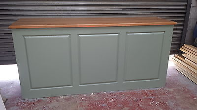 Solid Pine Shop Counter/home Drinks Bar/made To Measure/farrow And Ball Finishes • 650£
