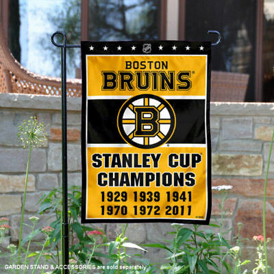 Boston Bruins 6 Time Stanley Cup Champions Garden Flag And Yard Banner • 15.95$