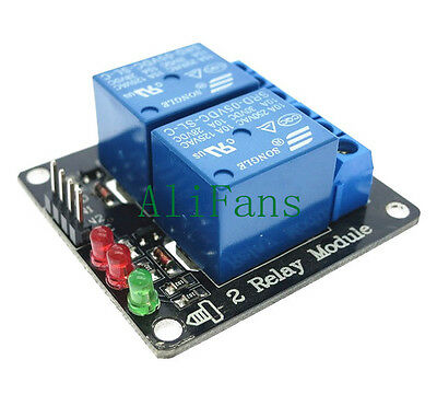 AU2.02 • Buy DC 5V Indicator Light LED Two 2-Channel Relay Module Arduino ARM PIC AVR